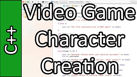 tutorial video game programming video game character creation c programming tutorial