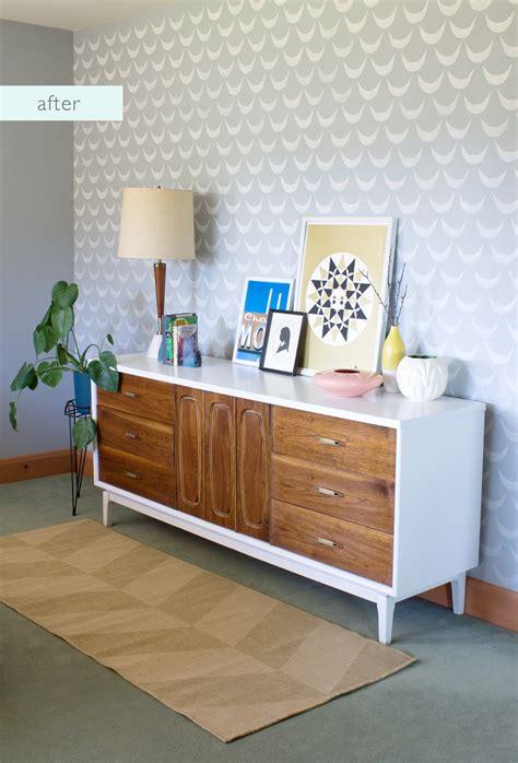 Mid Century Dresser Makeover by Vitamini Handmade Bedroom Makeover Mid Century Dresser