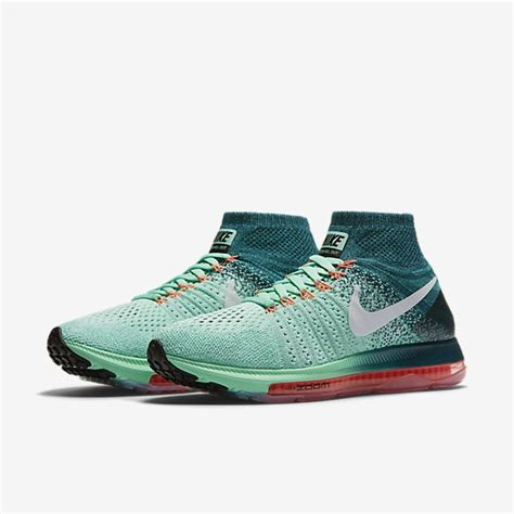 Sepatu Nike Zoom All Out Flycnit Premium Quality sale nike 845361 300 womens air zoom all out flyknit running shoes in green glow midnight