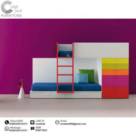 Dipan Kasur Anak dipan anak minimalis cantik rainbow createak furniture createak furniture