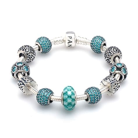 pandora bracelet pandora blue oasis complete bracelet greed jewellery