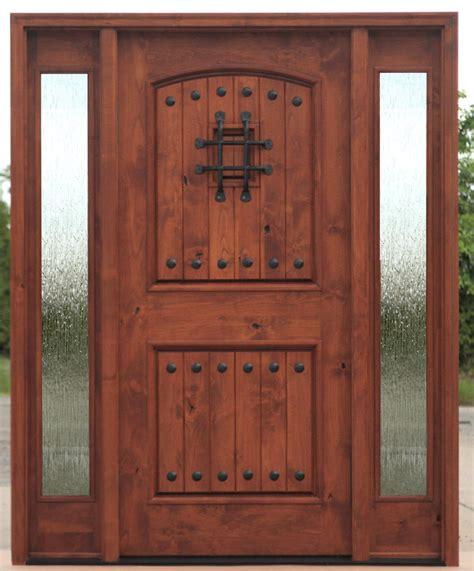 Door Lites Exterior Doors Tuscan Arched Top Entry Door With Side Lites Ex 1336 Ksr Door And Mill Comany