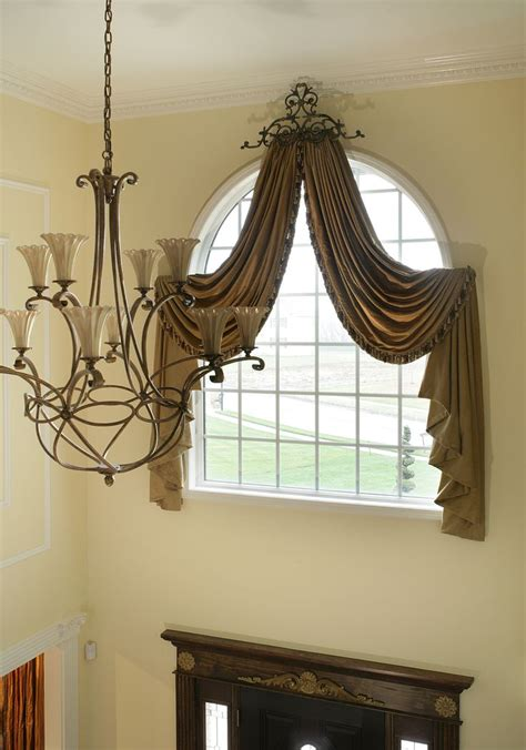 Window Scarves For Large Windows Inspiration Arched Window Treatments Marlboro New Jersey Custom Drapes Monmouth County New Jersey Window
