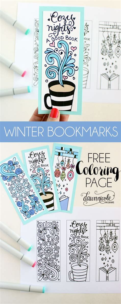 printable bookmarks design winter bookmarks coloring page bookmarks winter and blog