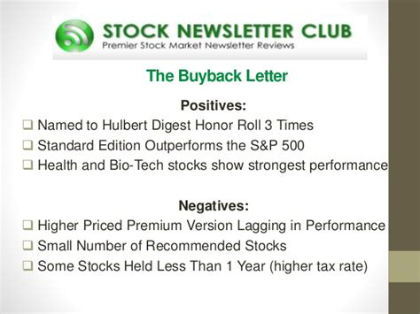 best stock newsletters reviews of the top stock investment newsletters