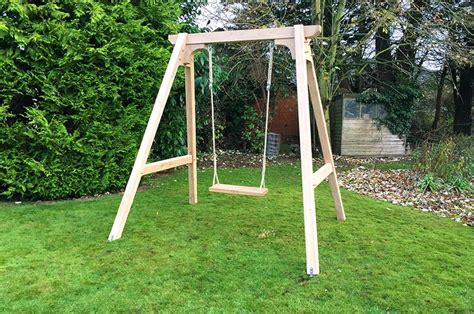 single outdoor swing single garden swing frame mr woodcraft
