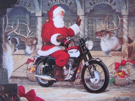 santa on a motorcycle motoblogn santa rides a motorcycle card collection