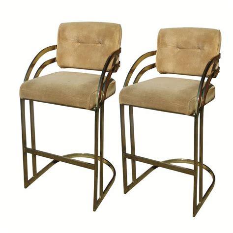 retro counter stools vintage pair of milo baughman brass cantilever counter bar
