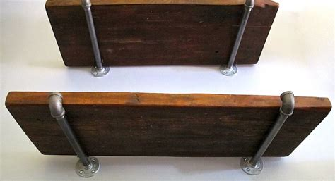 Industrial Style Shelving Upcycles Reclaimed Wood Pipes Reclaimed Wood Shelving