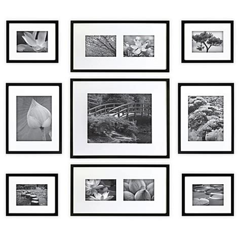 picture hanging template kit gallery 9 matted wall frame kit bed bath