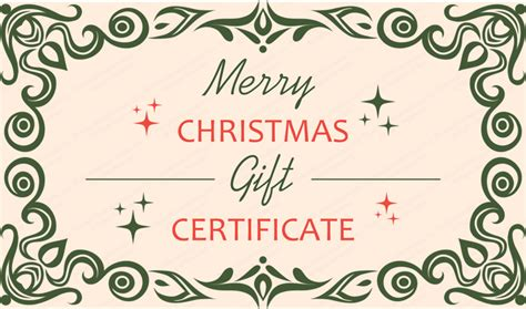 templates gift certificates christmas 79 s christmas gift certificate template
