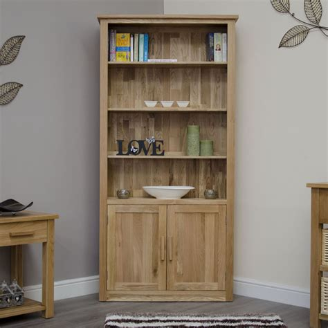 office bookcases with doors arden bookcase solid oak living room office furniture with