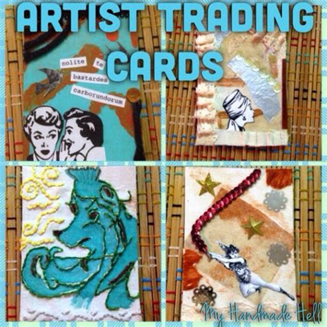trading cards make your own my handmade hell how to make your own artist trading cards