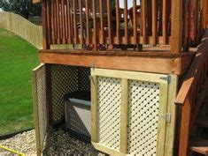 deck lattice   removable panel  locks hides
