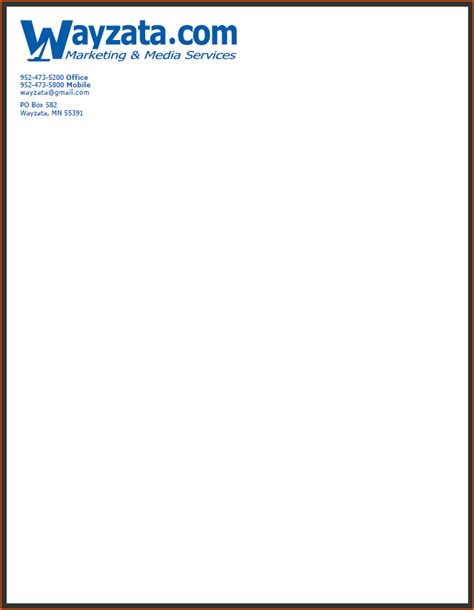 Business Letterhead Exles 7 Company Letterhead Sles Bookletemplate Org