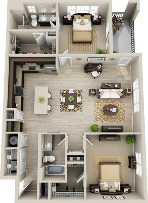Delightful 2 Bedroom Apartment With Garage For Rent #4: Dfa07fc9f734efee14ac13779374a4ce--small-house-floor-plans-small-homes.jpg