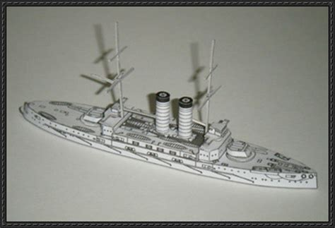 Battleship Papercraft - japanese battleship mikasa free ship paper model