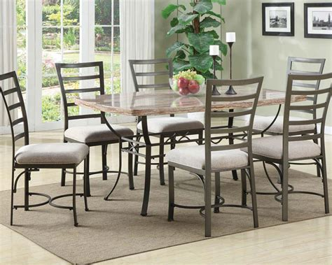 Marble Table Top Dining Set Dining Set W Faux Marble Top Table Val By Acme Furniture Ac70094set