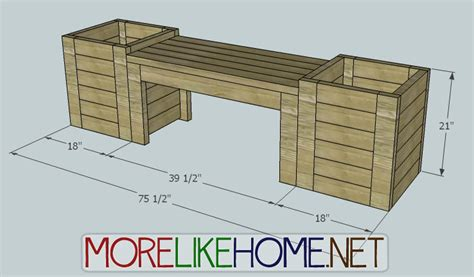 flower box bench plans more like home diy plans for bench and planters diy