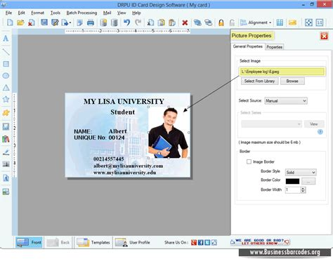 id card design professional id card design software generates colorful and