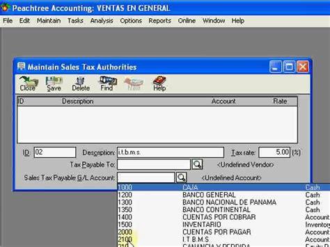 q es pattern en español peachtree espa 241 ol video tutorial crear impuesto de ventas