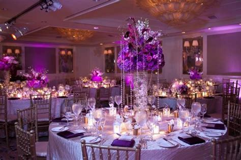 wedding table decorations purple purple wedding centerpieces ipunya