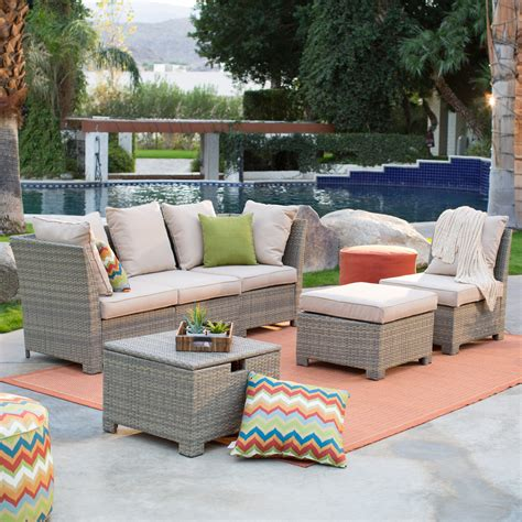 coral coast outdoor furniture coral coast south isle all weather wicker outdoor conversation set conversation patio
