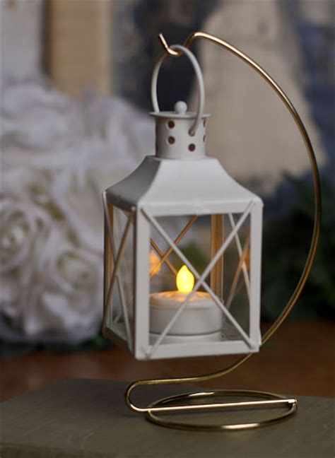 White Tealight Candle Lantern   Candles and Accessories
