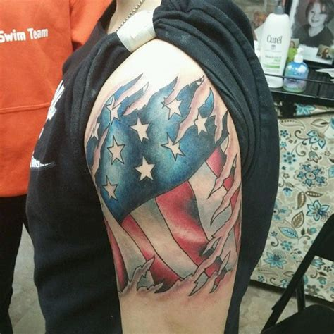 american flag arm tattoo 55 heroic american flag tattoos