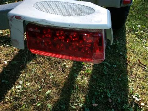 boat trailer lights wesbar replacement wesbar led tail lights for an ez loader boat