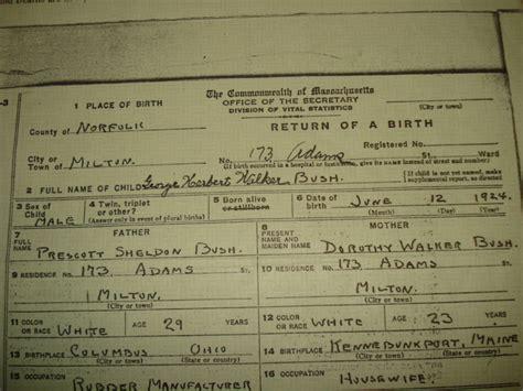 George W Bush Birth | ebay president george herbert walker bush official and