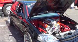 insanity 454 lsx engine in a 96 honda civic lsxtv