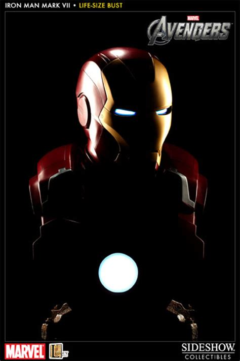 marvel iron man mark vii life size bust by sideshow marvel iron man mark vii life size bust by sideshow