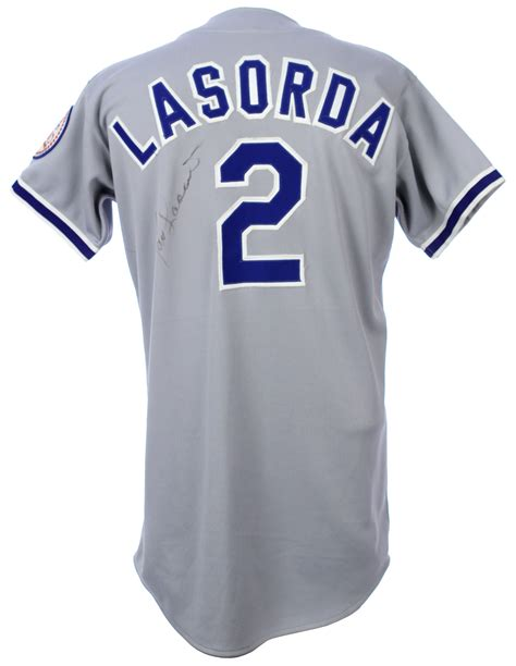 Gamis Jersey Gm Jersey1 lot detail 1980 lasorda los angeles dodgers signed