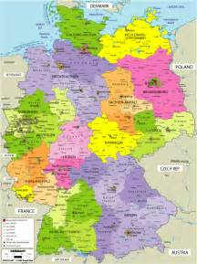Germany On The Map by Large Political Map Of Germany