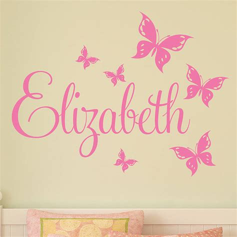 Toddler Bedroom Ideas For Girls personalised butterfly wall stickers by parkins interiors