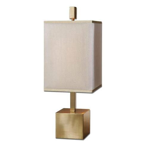 luxe contemporary mini brass geometric table lamp modern tall shade small gold ebay