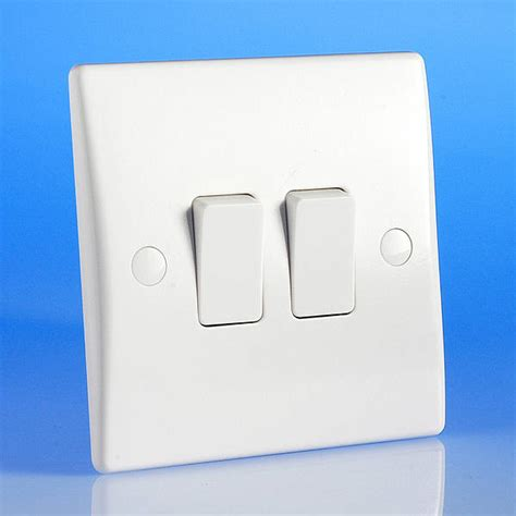 2 2 way light switch white