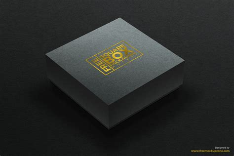 mockup design box free square box packaging mockup
