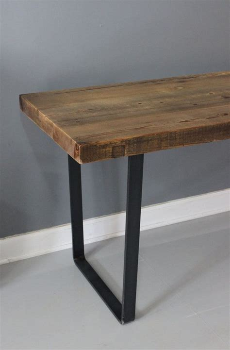 Wood Dining Table With Metal Legs 17 Best Ideas About Industrial Dining Tables On Industrial Dining Rooms Industrial