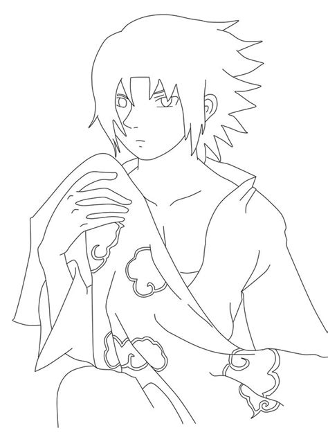 sasuke akatsuki coloring pages coloring pages