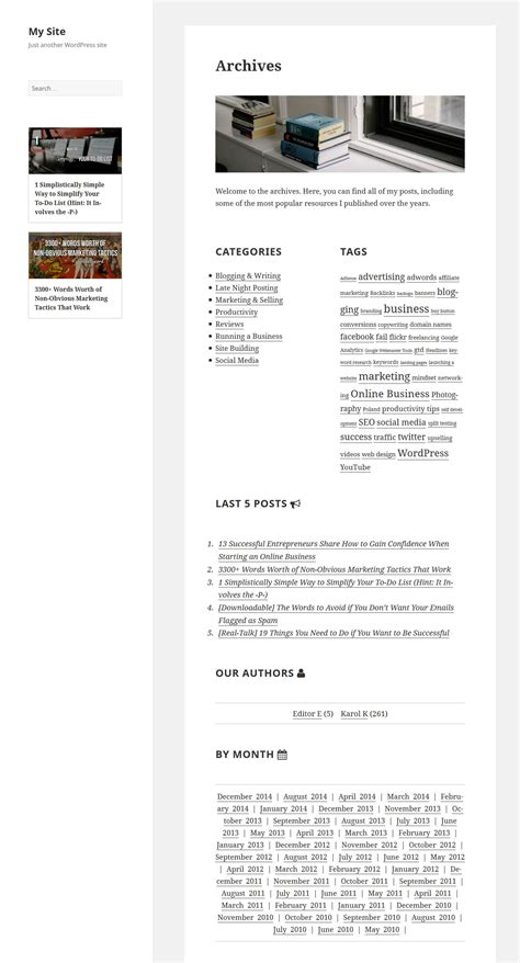 archive page template how to build a custom archive page smashing