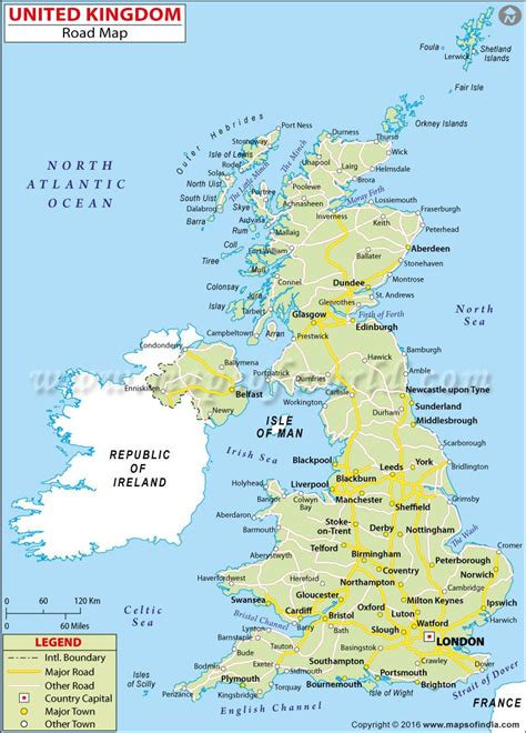 map of the united kingdom with major cities uk road map uk maps images map