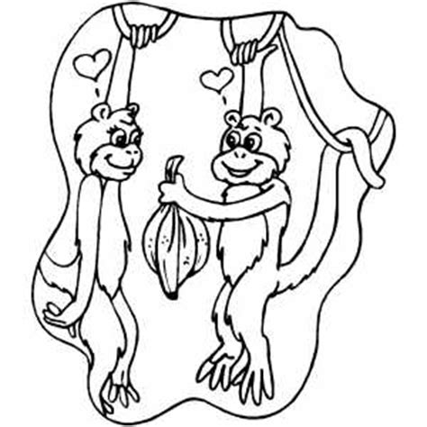 monkey love coloring pages monkeys in love coloring page