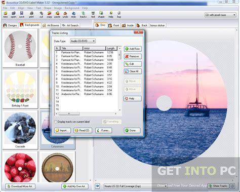 cd label maker software free download acoustica cd dvd label maker free download