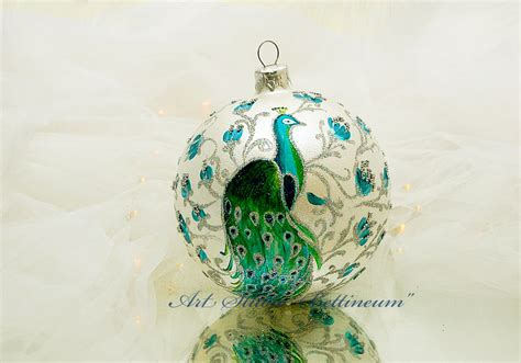 christmas ornament peacock