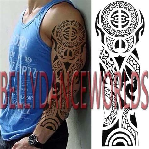 full body tribal tattoos arm sleeve celtic tribal totem temporary