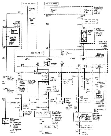 honda civic headlight wiring diagram honda free engine
