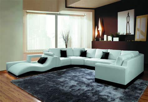Contemporary Sectional Sofas 2264b Modern White Leather Sectional Sofa