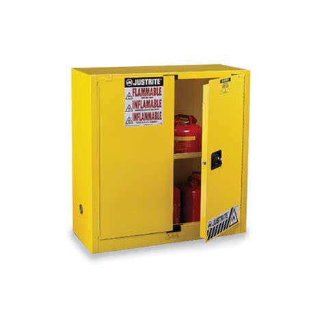 justrite 45 gallon safety cabinet 894500 by justrite 45 gallons yellow safety cabinets for